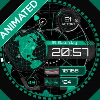Smartwatch Planetary green